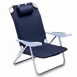 Picnic Time 'Monaco' Folding Beach Chair, Black