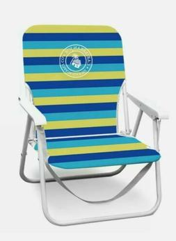 folding beach chair cj 7720 blue lime