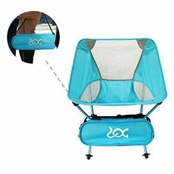 Folding Beach Chair, Portable Lightweight Camp Chair with Ad