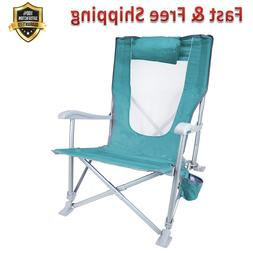 Folding Beach Chair Waterside Sun Recliner Patent Pending Te