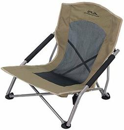 Folding Camping Chair Beach Sitting Low Seat Steel Frame Mes
