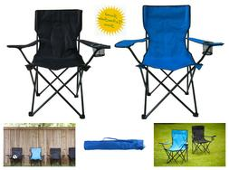 Folding Camping Picnic Chair Beach Outdoor Steel Frame Porta