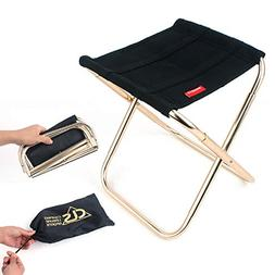 BININBOX Folding Camping Stool, Portable Chair for Camping F