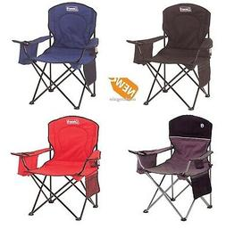 folding chair with 4 can cooler portable