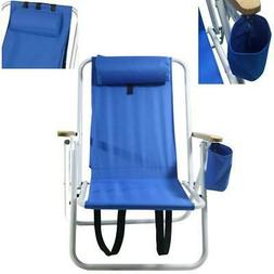 Folding Lounge Chairs W/Drink Holder Beach Patio Outdoor Rec