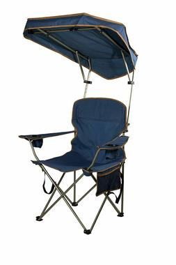 Folding Portable Chair with Sun Shade Canopy for Patio Outdo