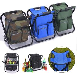 folding stool insulated cooler bag backpack chair