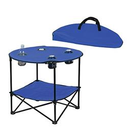 Preferred Nation Folding Table, Polyester with Metal Frame,