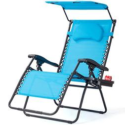 Goplus Folding Zero Gravity Lounge Chair Wide Recliner for O