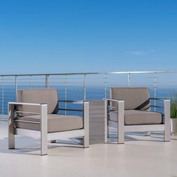 Furniture Outdoor Aluminum Patio Chairs with Side Table for