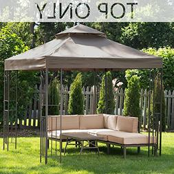 MASTERCANOPY Gazebo Replacement Canopy Top 8×8ft Replacemen