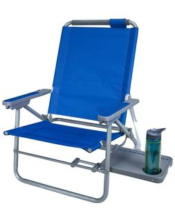 GCI Waterside Beach Chair with Slide Table - Folds Flat