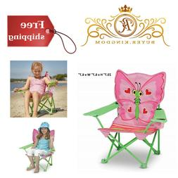 Girls Adorable Butterfly Childs Outdoor Foldable Beach Chair