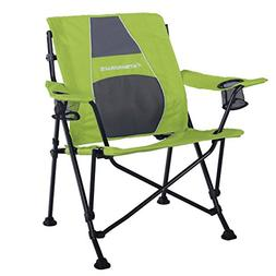 STRONGBACK Guru Folding Camp Chair with Lumbar Support, Lime