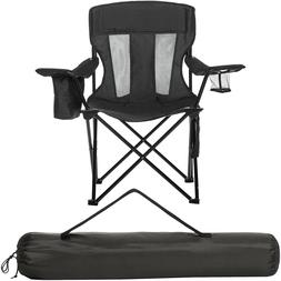 Heavy Duty Camping Chair Mesh Portable Folding Beach Camp Se