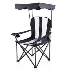 ALPHA CAMP Heavy Duty Canopy Camping Chair with Mesh Back -