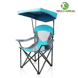 ALPHA CAMP Heavy Duty Canopy Lounge Chair Sunshade Hiking Tr