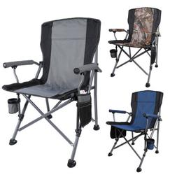 Heavy Duty Folding Camping Chairs Cup Holder Carrying Bag Be