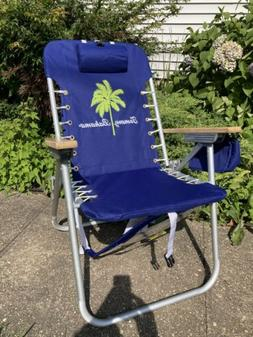 Tommy Bahama® Hi-Boy Folding Backpack Beach Chair with Cup