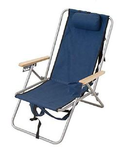 High Back Steel Backpack Beach Chair Outdoor Portable Adjust