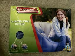 Coleman Inflatable Chair Blue Sealed NIB 2004 Camping Beach