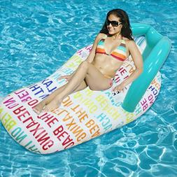 Inflatable Water Hammock Floating Bed Slippers <font><b>Loun