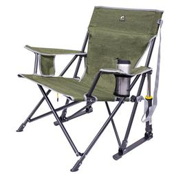 GCI Outdoor Kickback Rocking Camp chair with cup holders in
