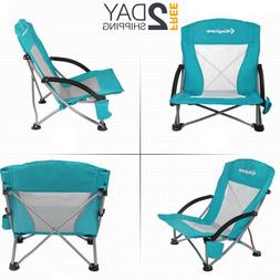 King Camp Low Sling Beach Chair Lightweight Cup Holder Carry