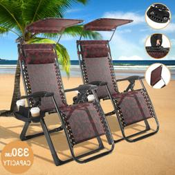 King Heavy Duty Zero Gravity Chairs Case Of 2 Folding Beach