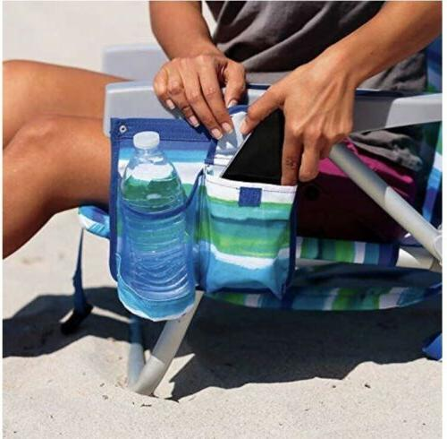 2 Backpack Beach Chair 5 Positions Capacity