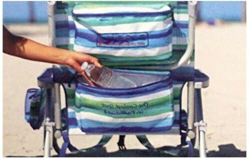 2 Tommy Beach Chair 5 Positions Capacity 300 lbs.Lays