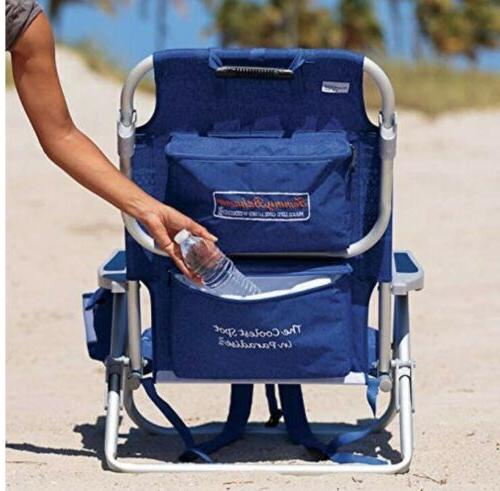 1 Beach Chair 5 Positions Capacity 300 lbs.Lays