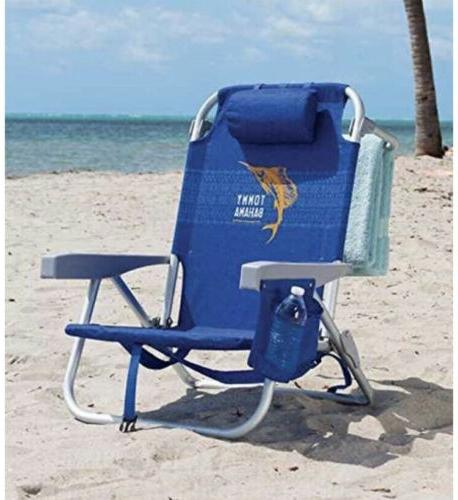 1 Tommy Beach Chair 5 Capacity lbs.Lays