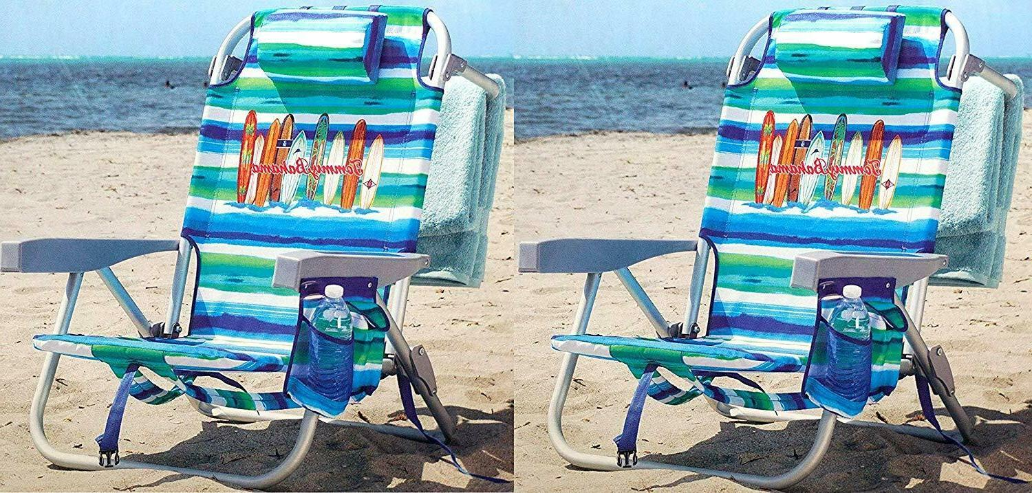 2 backpack beach chairs lays flat 5