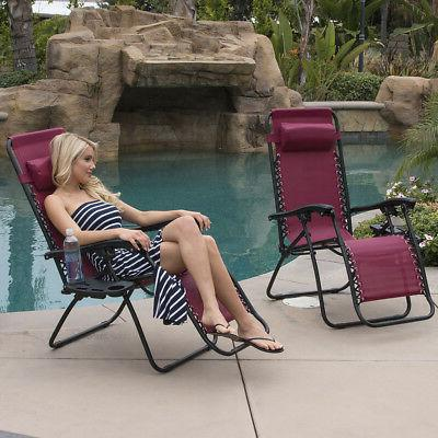 2 Gravity Reclining Lounge Outdoor