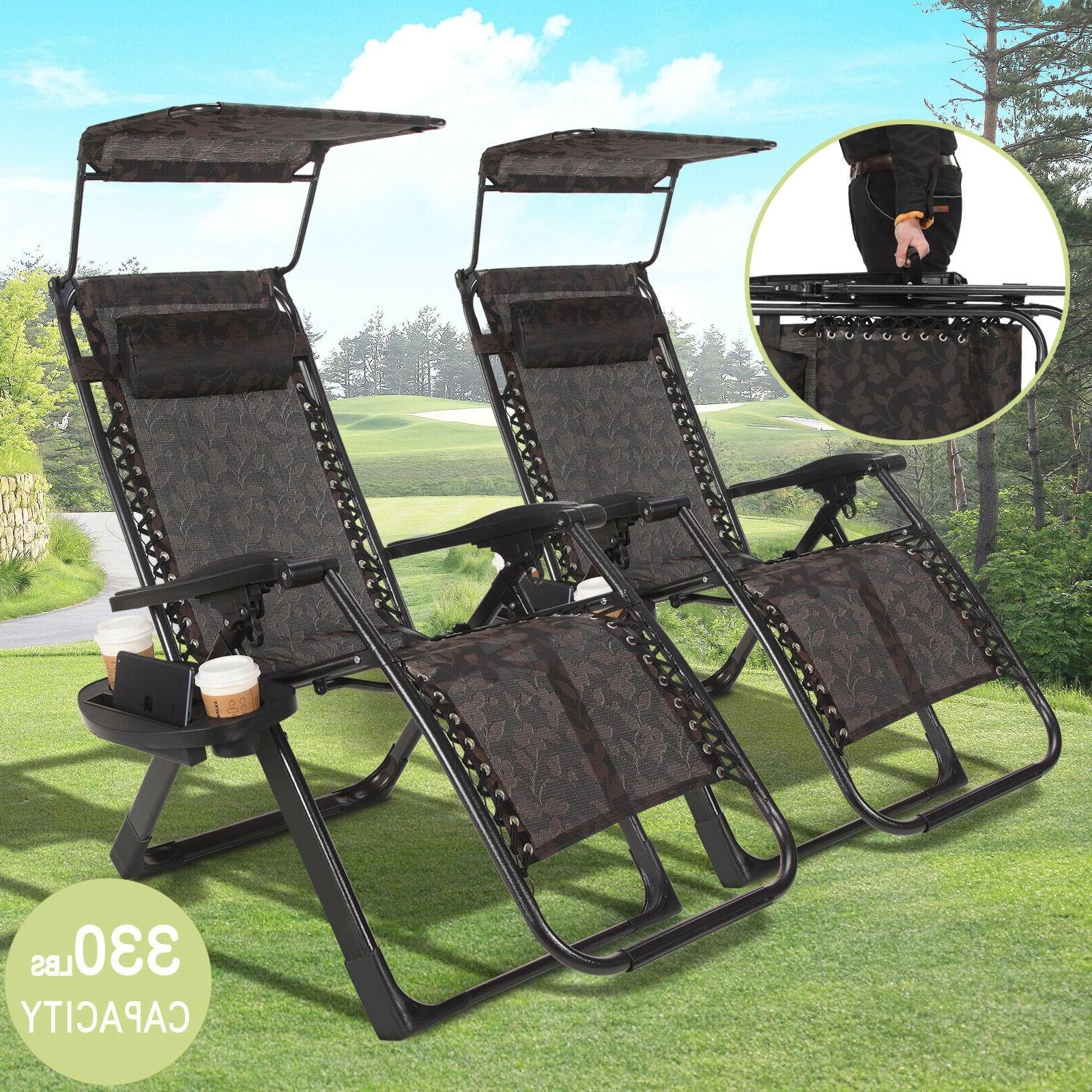 2 x Folding Gravity Outdoor Beach Sunshade