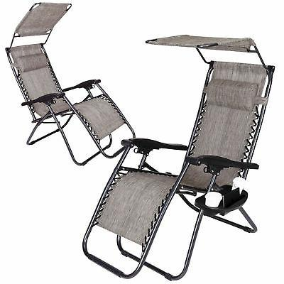 2 Chairs Folding Garden Camping Beach