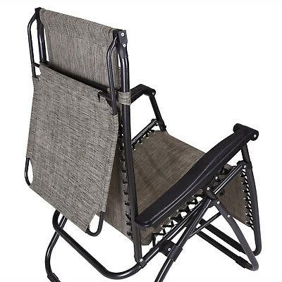 2 Zero Recline Chairs Folding Beach