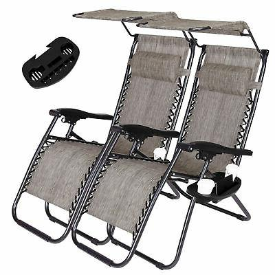 2 zero gravity recline chairs folding garden