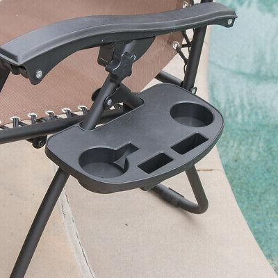 2PC Lounge Recliner Beach Patio Holder
