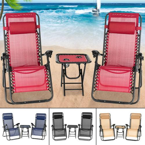 3PC/1PC Recliner Chair Patio Garden