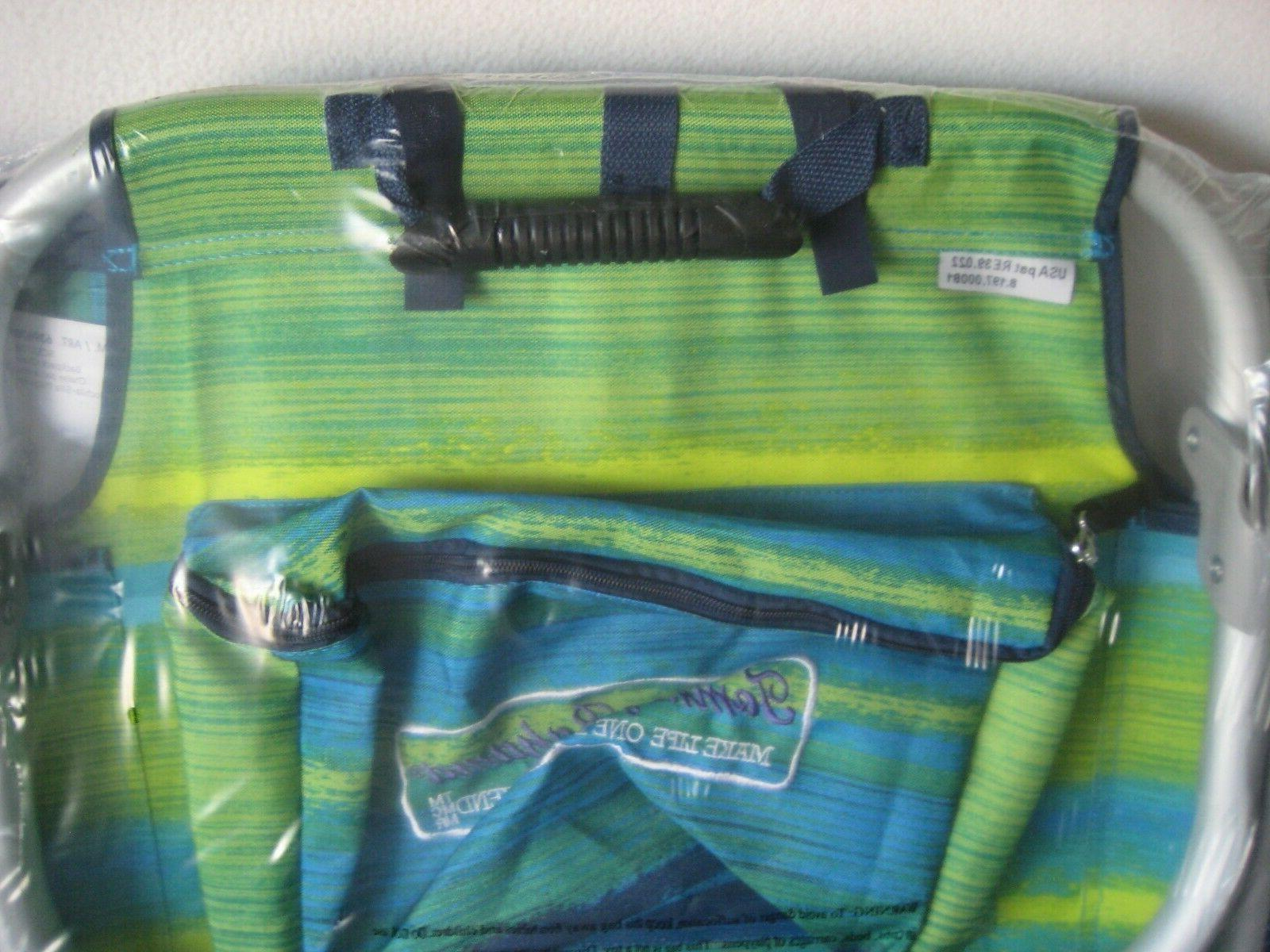 Tommy Backpack Chair Blue/Green NEW