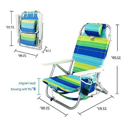YATIO--- Flat Backpack Camping Aluminum Lightweight, Insulated Cooler, Drink Adjustable Pillow,Blue/Green