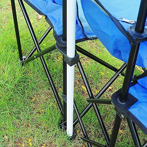 Yescom Double w Umbrella Table Fold Picnic Camping Beach