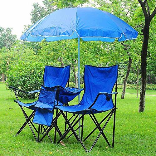 Yescom w Umbrella Table Cooler Fold Up Picnic Beach Garden