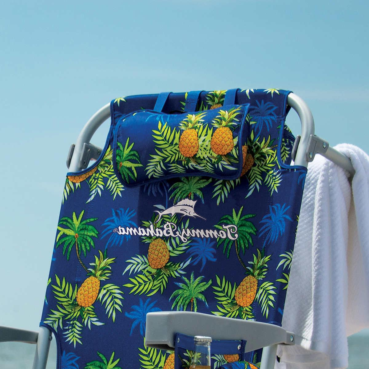Tommy Bahama 5 Position Beach Chair 2020 with Pineapple NEW!