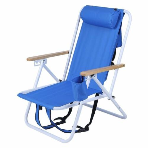 backpack fold beach chair with adjustable padded