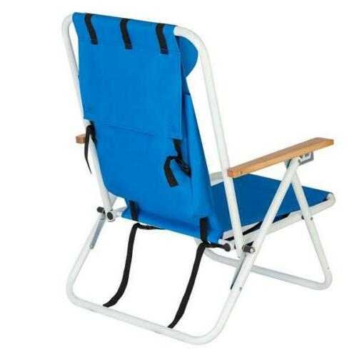Backpack Beach Folding Seat Construct Camping Blue