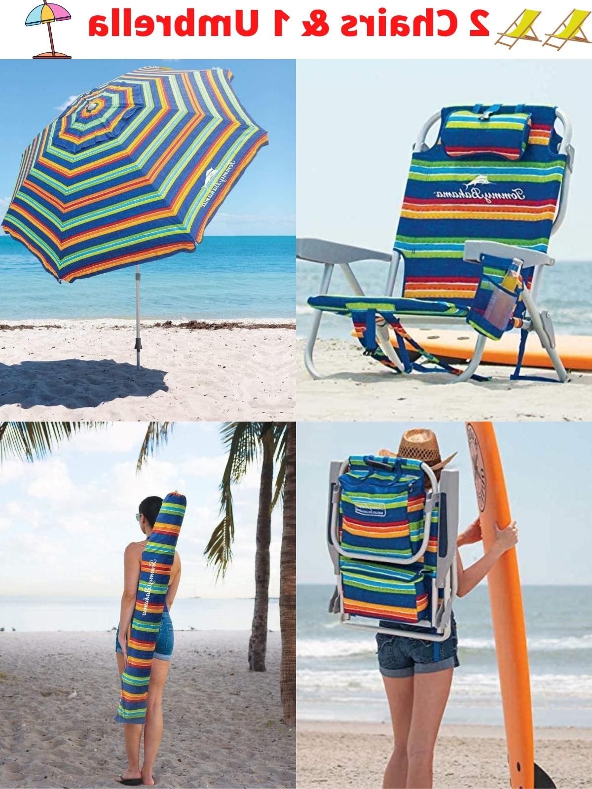 Tommy Bahama Beach Chair and Umbrella Beach Set 2020 Brand N