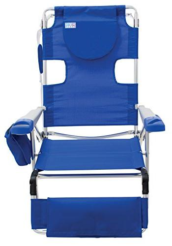 Rio Face Opening Sunbed Seat Chair Lounger, Blue